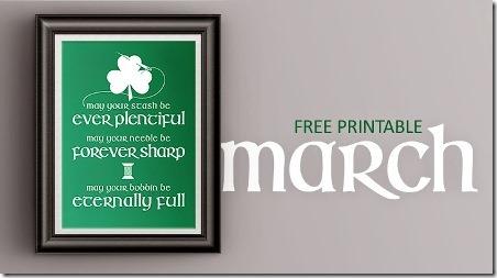 Printable Irish Sewing Prayer from The Inspired Wren