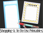 Shopping and To Do List Printables