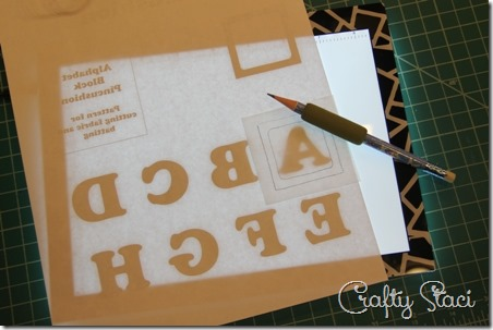 Tracing letters on light table - Crafty Staci