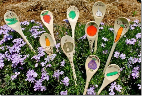 Wooden Spoon Garden Stakes from Twig and Toadstool