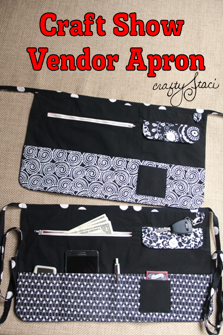 craft vendor apron tutorial and pattern