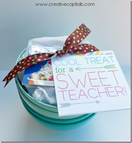FroYo Teacher Gift from Capital B