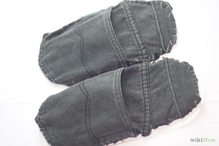Make Jean Slippers from WikiHow