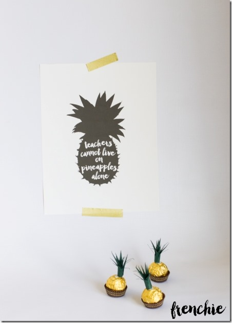 Pineapple Teacher Appreciation Gift from Frenchie