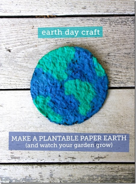 Plantable Paper Earth from Modern Parents Messy Kids