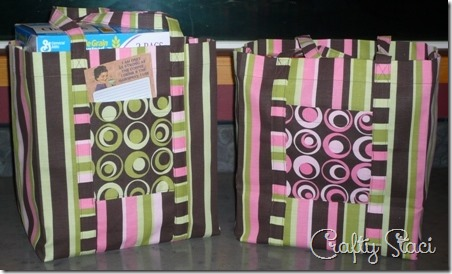 Reusable Grocery Bags - Crafty Staci