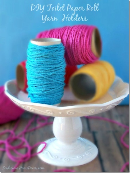 Toilet Paper Roll Yarn Holders from Sewlicious Home Decor