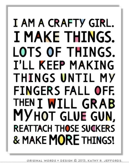 Crafty Girl Print from Thedreamygiraffe on Etsy