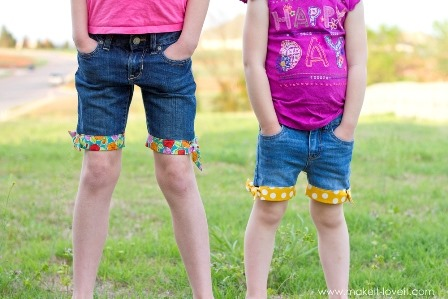 http://craftystaci.files.wordpress.com/2015/05/cut-off-jeans-with-fabric-hem-and-side-knot-from-make-it-and-love-it.jpg?w=448&h=299