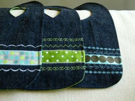 Denim Bibs from Thimbly Things