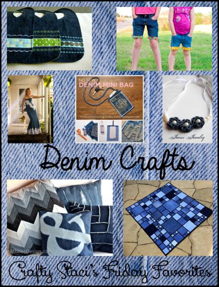 Denim Crafts - Crafty Staci's Friday Favorites