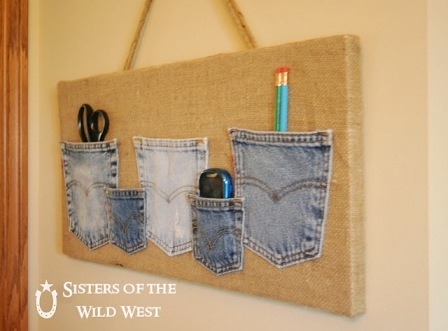 Denim Pocket Organizer from Sisters of the Wild West
