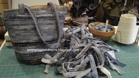 Flat Felled Seam Denim Bag from Penny Rugs and More
