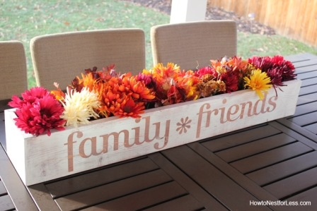 Table Trough Centerpiece from How to Nest for Less