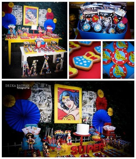 Wonder Woman Birthday Party from Kara's Party Ideas