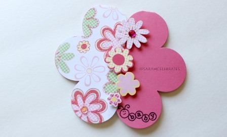 Baby Girl Shower Card -Sarah-Celebrates