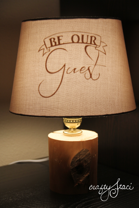 Be Our Guest Lamp from Crafty Staci