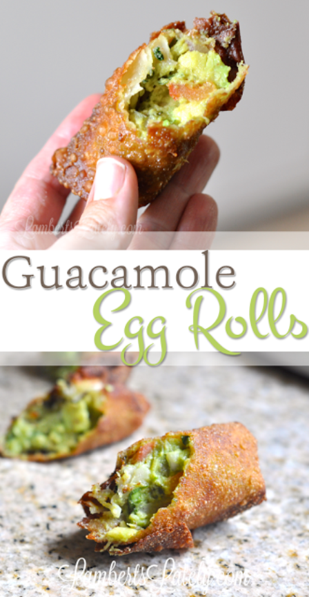 Guacamole Egg Rolls from Lamberts Lately