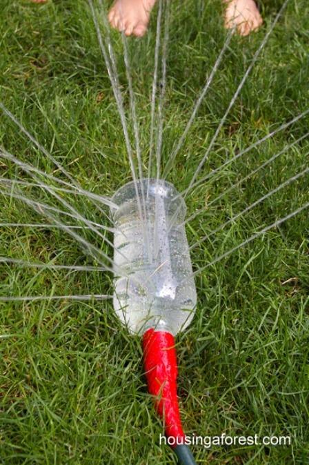 Homemade Sprinkler from Housing a Forest