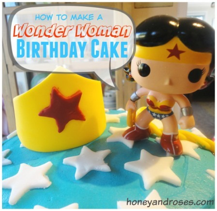 How to Make a Wonder Woman Cake from Honey and Roses