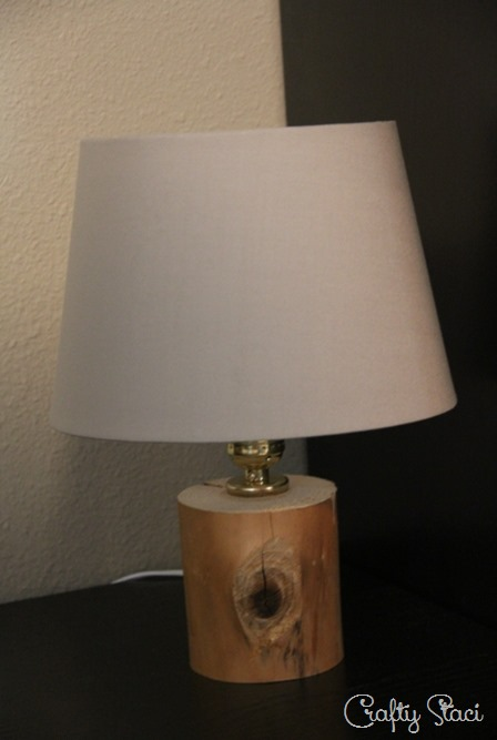 Lamp with plain shade