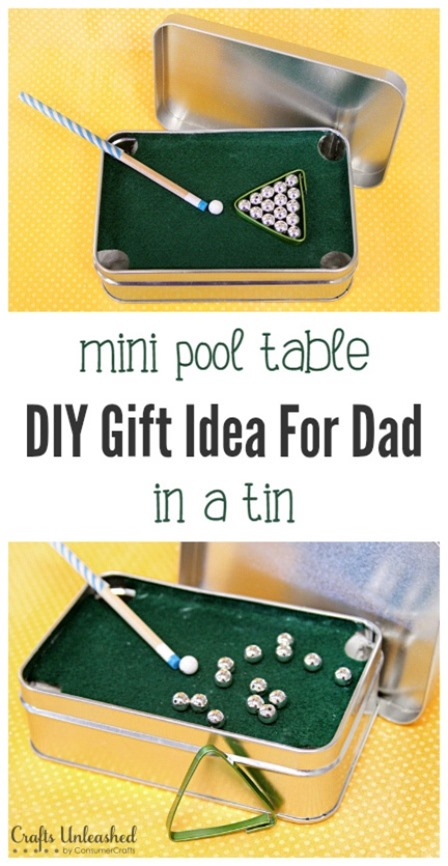 Mini Pool Table in a Tin from Crafts Unleashed
