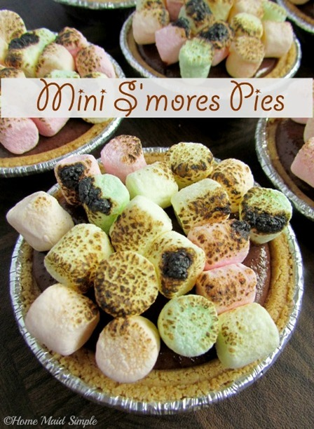 Mini S'mores Pie by Home Maid Simple