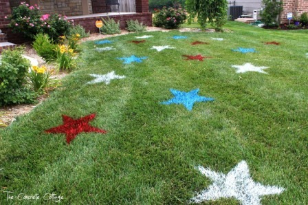 Painted Lawn Stars from The Concrete Cottage