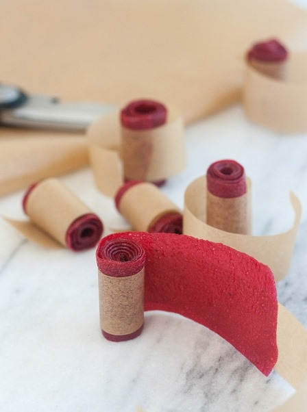 Homemade Raspberry Fruit Leather from Tracey's Culinary Adventures