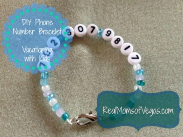 Phone Number Bracelet from Real Moms of Vegas