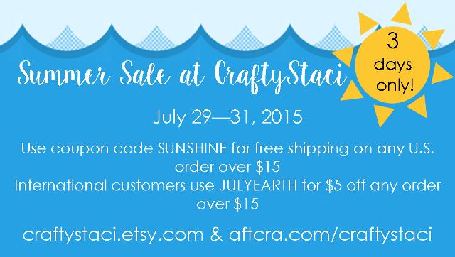 Summer Sale at CraftyStaci