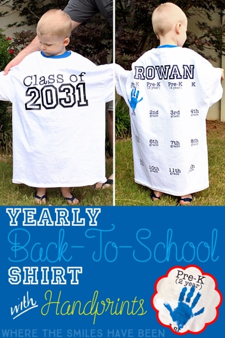 Yearly Back to School Shirt from Where the Smiles Have Been