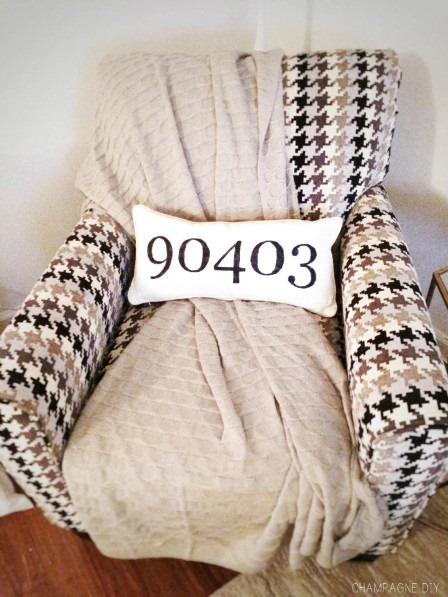 Zip Code Pride Pillow from Champagne DIY