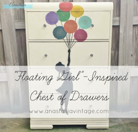 Floating Girl Inspired Chest of Drawers from Anastasia Vintage