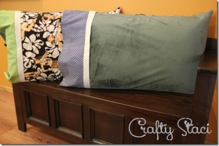 Hot and Cold Pillowcase from Crafty Staci