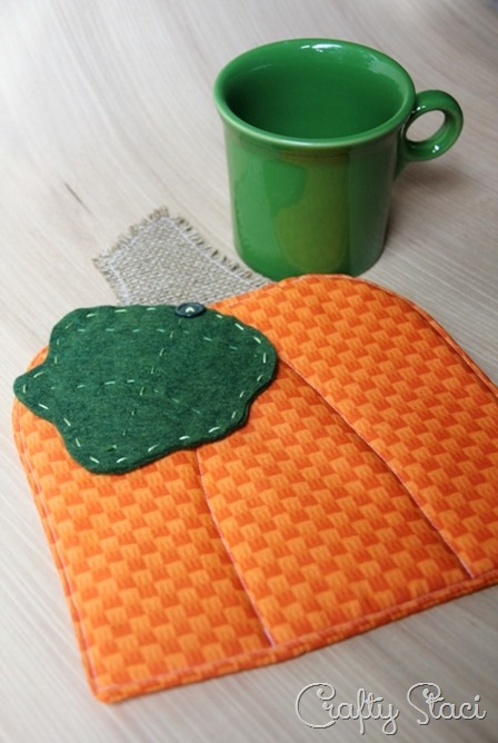 September Pumpkin Hot Pad from Crafty Staci