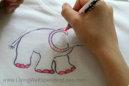 Sharpie T-Shirts from LIving Well Spending Less