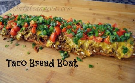 Taco Bread Boat from The Painted Apron