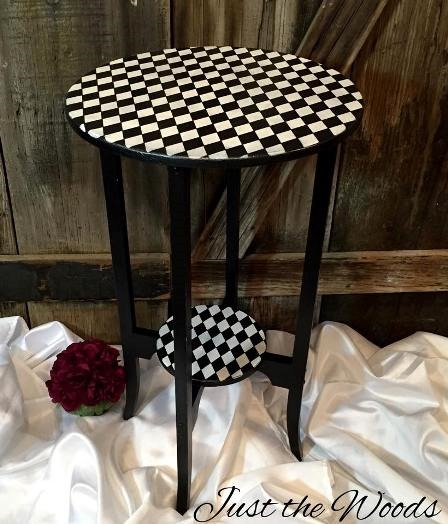 Whimsical Wood Harlequin Table from Just the Woods