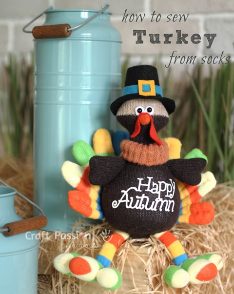Sock Turkey from Craft Passion