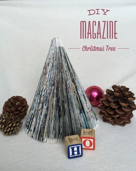 Magazine Christmas Tree from Sweet Things