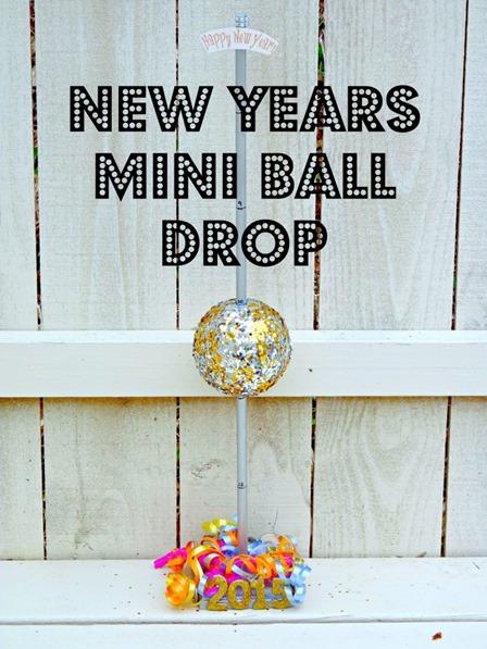 Mini Ball Drop from One Artsy Mama