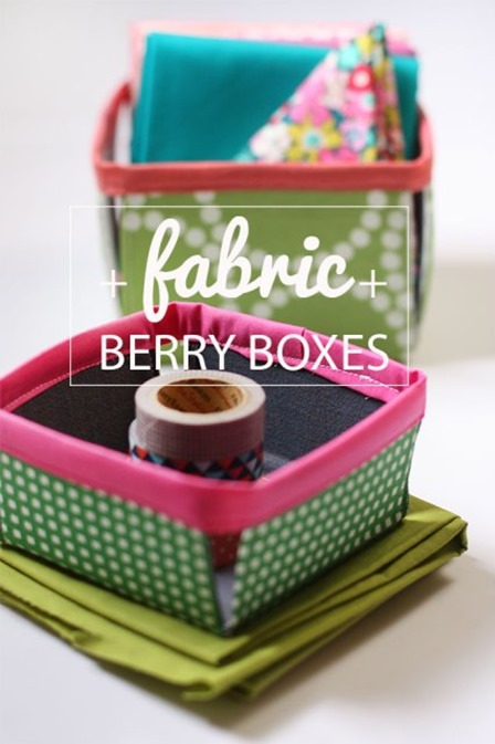 Fabric Berry Baskets from Noodle Head