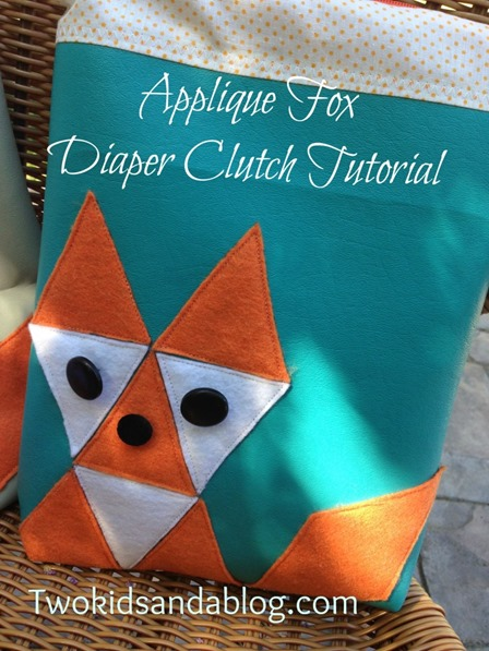 Fox Diaper Clutch from Two Kids and A Blog