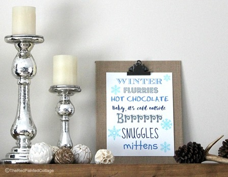 Free Winter Printable from The Red Painted Cottage