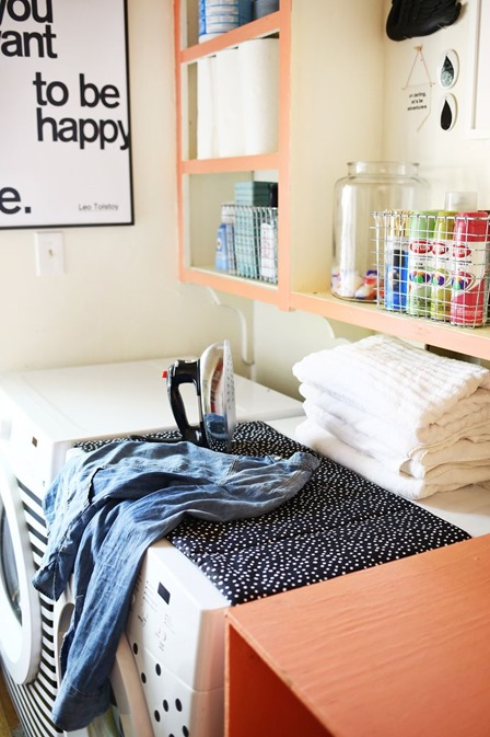 Magnetic Ironing Mat from A Beautiful Mess