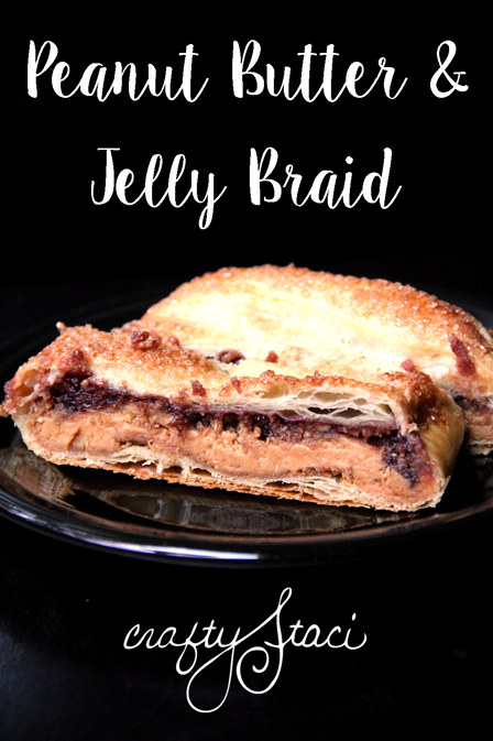 Peanut Butter and Jelly Braid from Crafty Staci