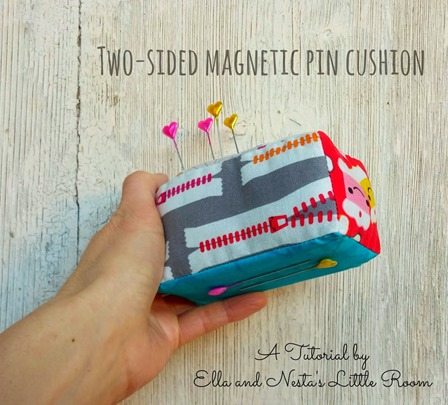 Two-Sided Magnetic Pincushion from Ella and Nesta's Little Room