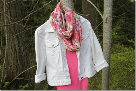 Easy Floral Infinity Scarf by Crafty Staci