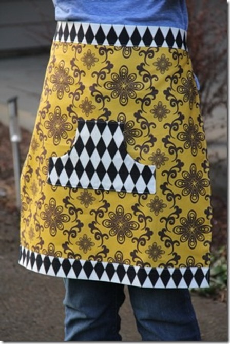 Fat Quarter Half Apron by Crafty Staci